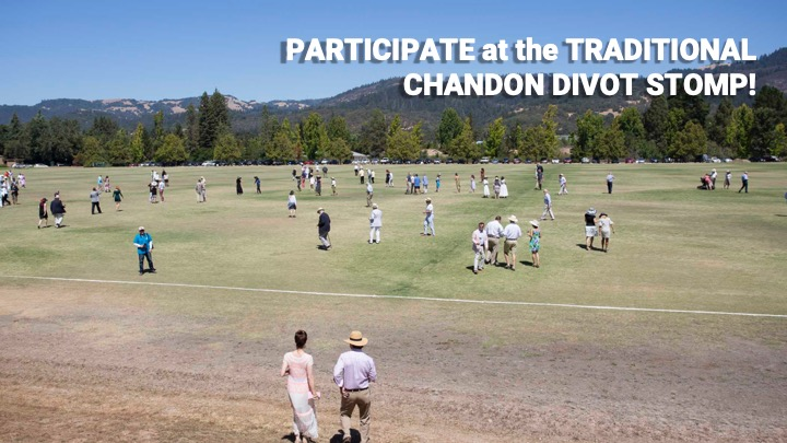 Participate in the Traditional Divot Stomp!